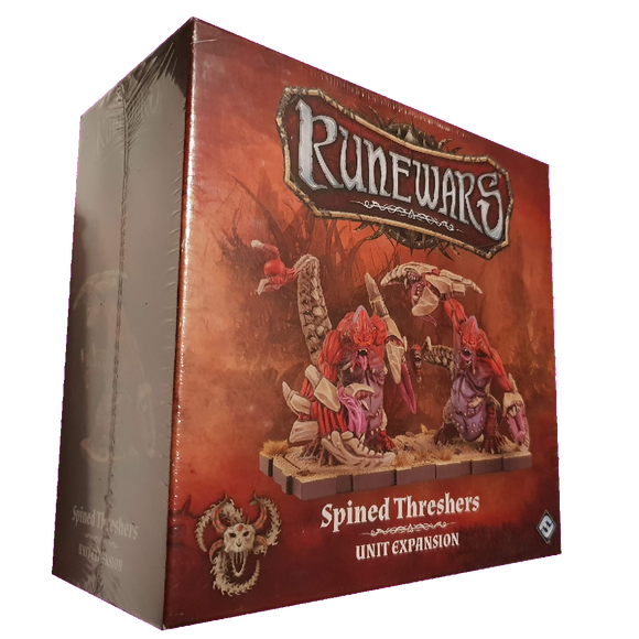 Front cover of the box of RuneWars Spined Threshers Unit Expansion
