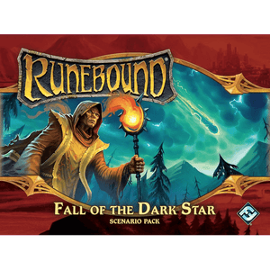 Front cover of the box of Runebound (Third Edition): Fall of the Dark Star Scenario Pack