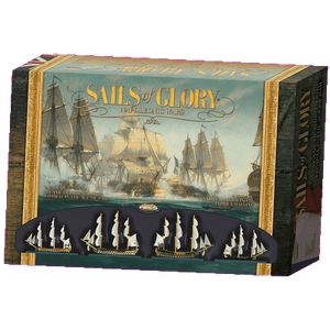 Front cover of the box of Sails of Glory