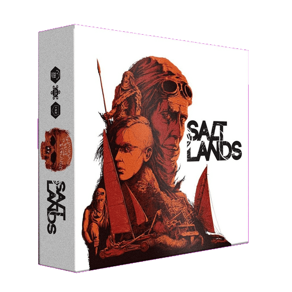 Front cover of the box of Saltlands