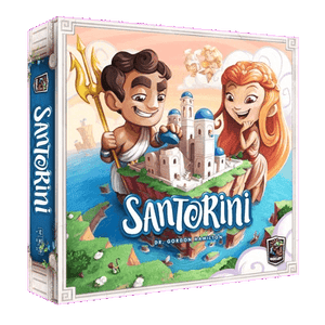 Front cover of the box of Santorini