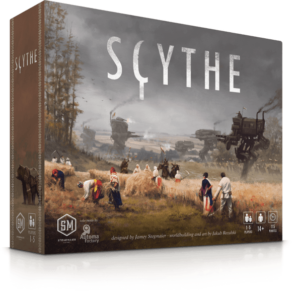 Front cover of the box of Scythe