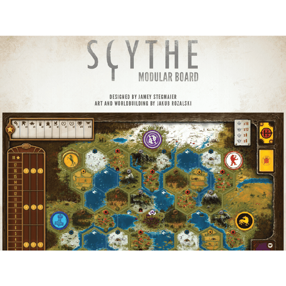 Front cover of the box of Scythe Modular Board