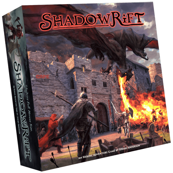 Front cover of the box of Shadowrift 2nd Edition