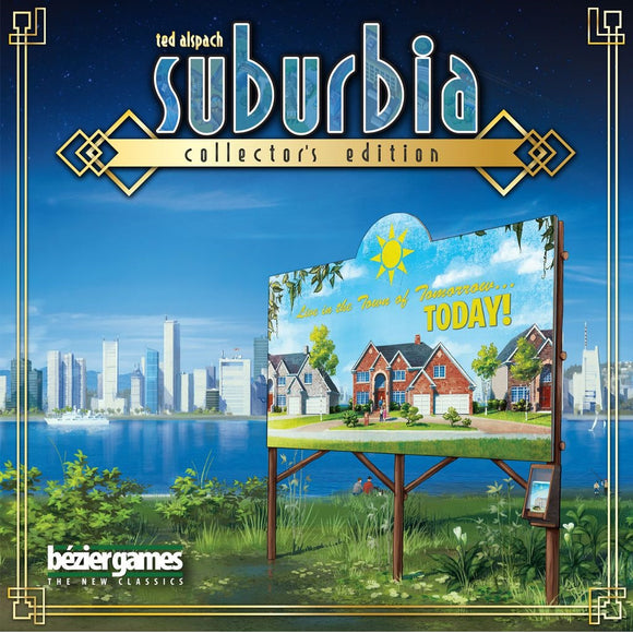 Front cover of the box of Suburbia Collector's Edition