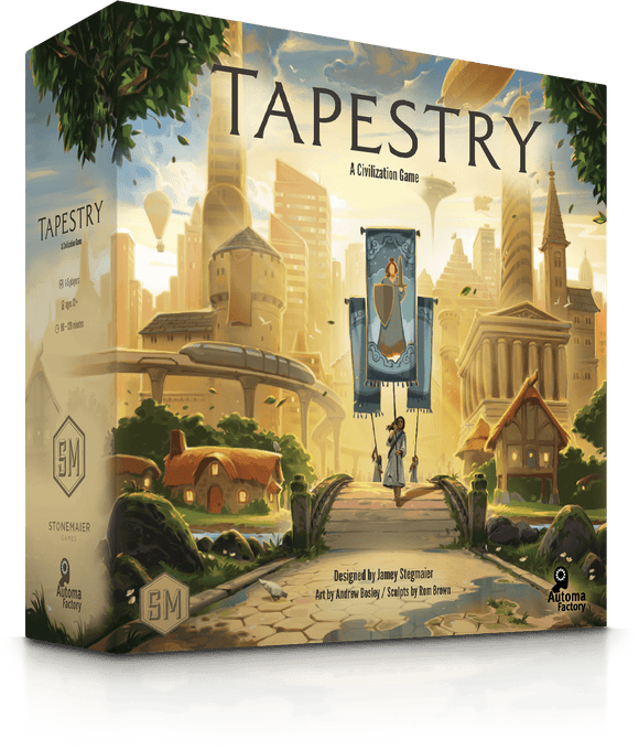 Front cover of the box of Tapestry