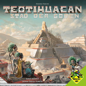 Front cover of the box of Teotihuacan: Stad der Goden