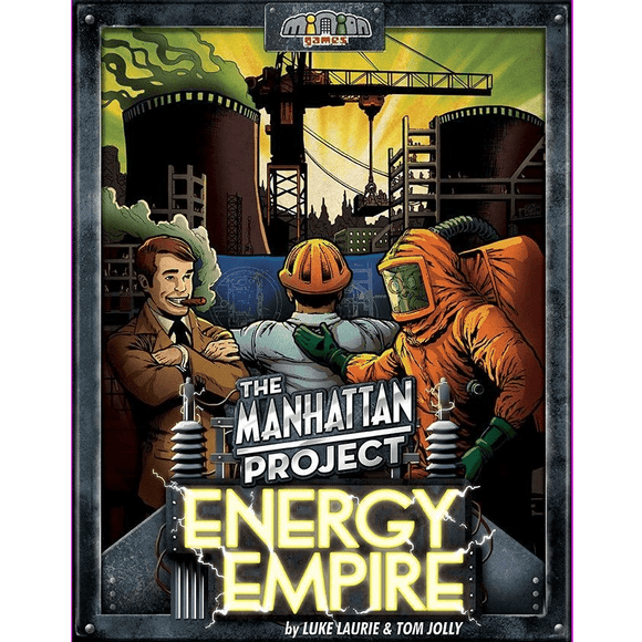 Front cover of the box of The Manhattan Project: Energy Empire