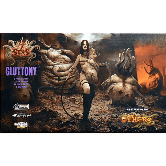 Front cover of the box of The Others: 7 Sins – Gluttony Expansion