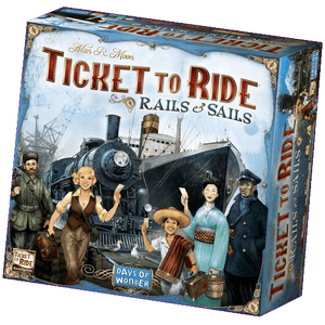 Front cover of the box of Ticket to Ride Rails & Sails