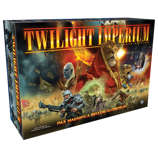 Front cover of the box of Twilight Imperium (Fourth Edition)