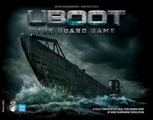 Front cover of the box of U-BOOT: The Board Game