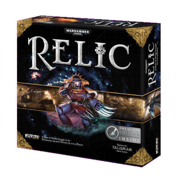 Front cover of the box of Warhammer 40,000: Relic Premium Edition