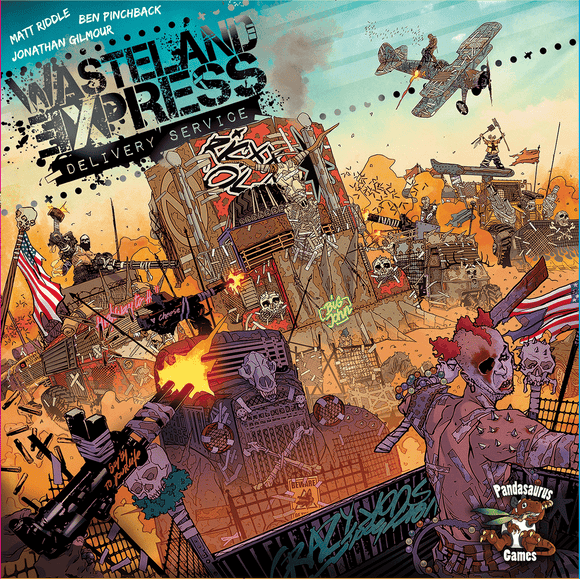 Front cover of the box of Wasteland Express Delivery Service