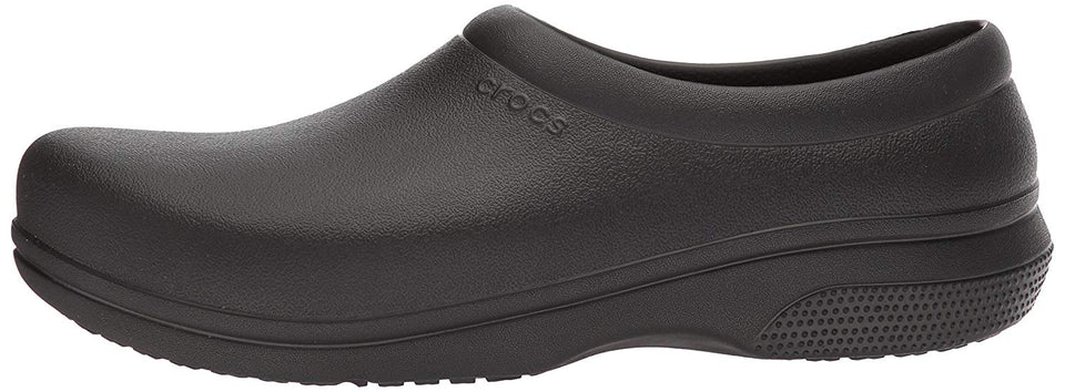 Crocs Men's and Women's On The Clock Work Slip Resistant Work Shoe, Great Nursing or Chef Shoe