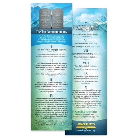 Ten Commandments Study Mark (25/Pack) by Amazing Facts