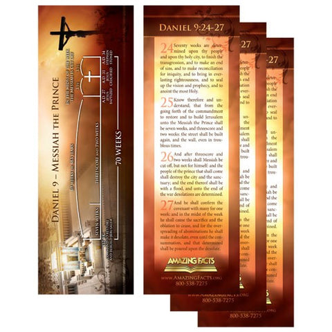 Daniel 9 Bookmark (25/Pack) by Amazing Facts