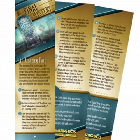 Final Mystery Bookmark (25 Pack) by Amazing Facts