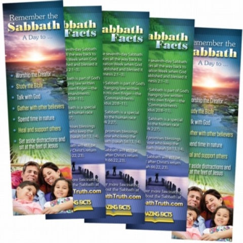 5 Sabbath Facts Bookmark (25/Pack) by Amazing Facts