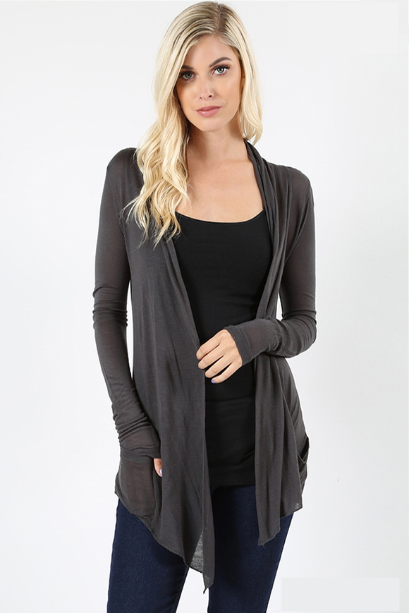 Summer Nights Cardi - Charcoal