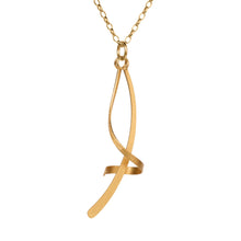 Load image into Gallery viewer, Twist & Turn Pendant in Gold & Silver
