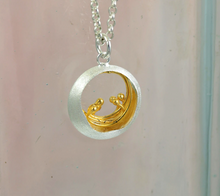 Load image into Gallery viewer, Little Water Feature Silver & Gold Pendant