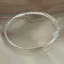 Load image into Gallery viewer, Unity Silver Heart Bangle