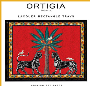 Ortigia Rectangle Lacquered Tray