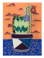 "Load image into Gallery viewer, Original Artwork | Mixed-Media ""Cactus Trip #2"""