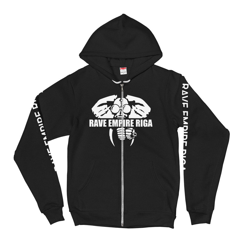 Rave Empire Riga Zip Hoodie - RAVE EMPIRE RIGA