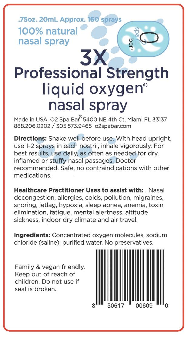 Liquid Oxygen Nasal Spray Professional Strength