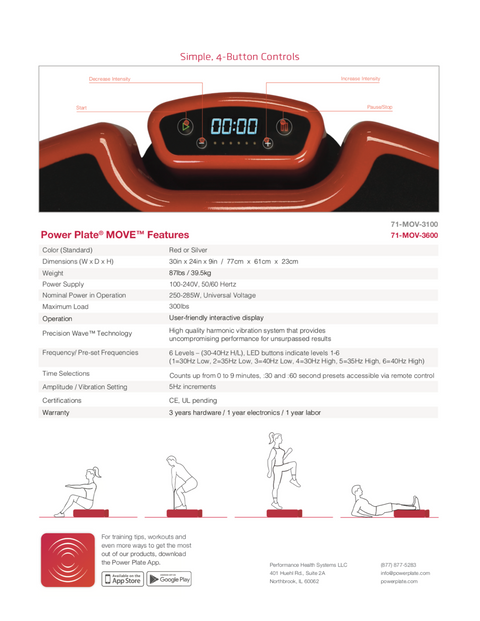 "Power Plate ""The MOVE"""