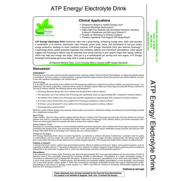ATP/ Energy/ Electrolyte Drink