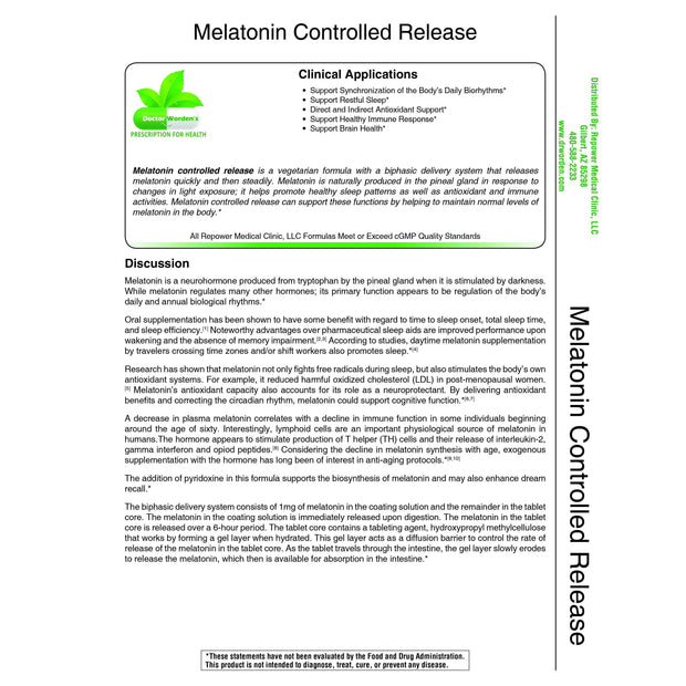 Melatonin Controlled Release