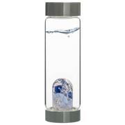Via Gem Water Bottle - Balance - SODALITE // CHALCEDONY // CLEAR QUARTZ