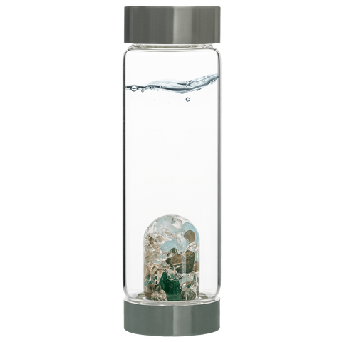 Via FOREVER YOUNG Gem Water Bottle - AVENTURINE // AQUAMARINE // SMOKY QUARTZ