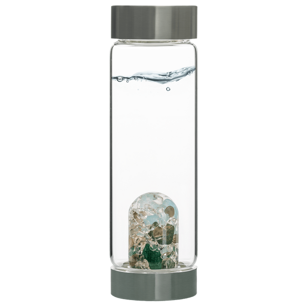 Via Gem Water Bottle - Forever Young/ AVENTURINE // AQUAMARINE // SMOKY QUARTZ