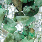 Via VITALITY Gem Water Bottle -  EMERALD // CLEAR QUARTZ