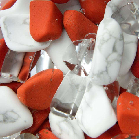 VitaJuwel - Fitness/ RED JASPER // MAGNESITE // CLEAR QUARTZ