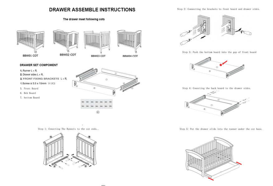 Babyworth Drawer Assemble Instructions