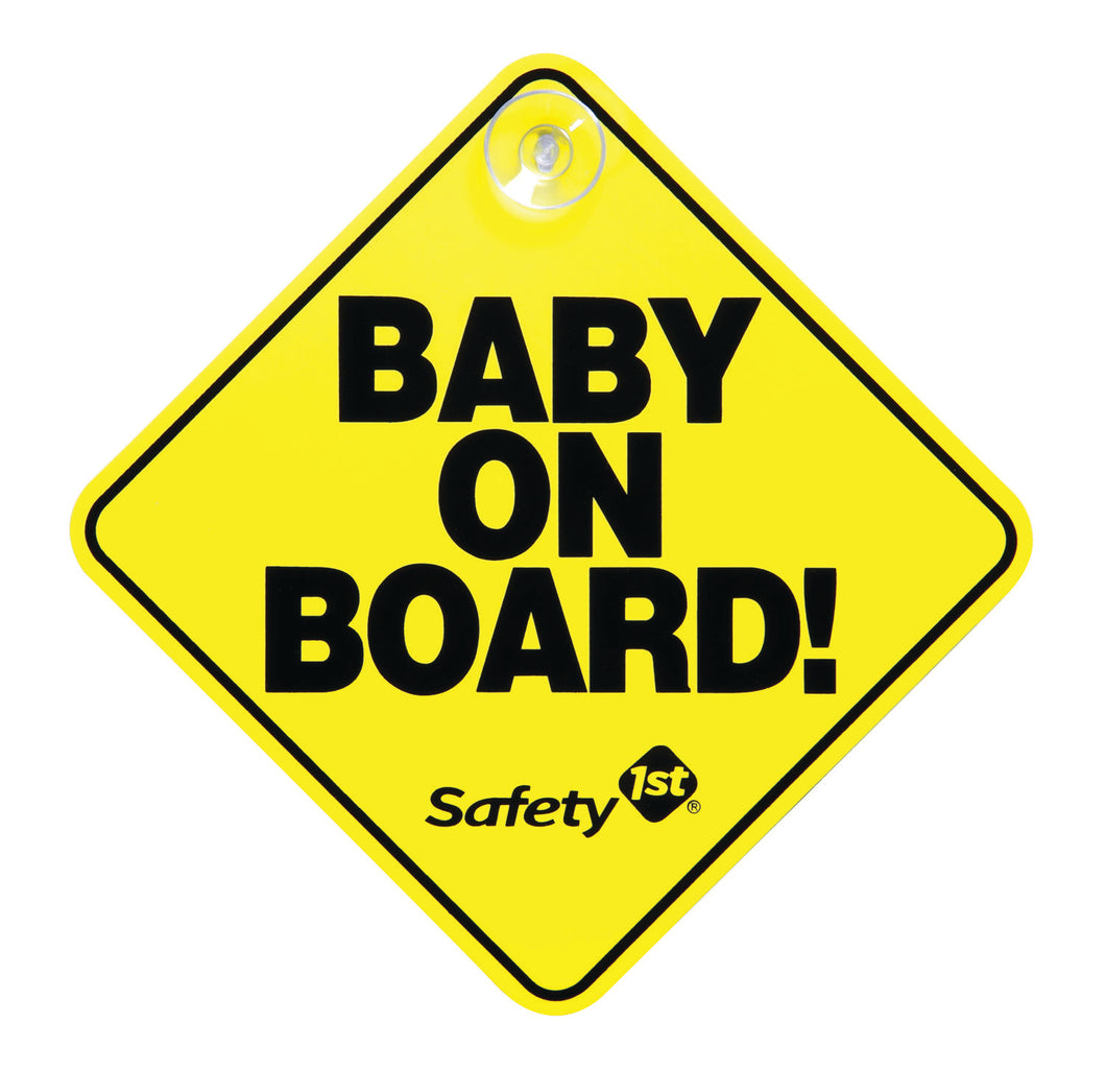 SAFETY 1ST BABY ON BOARD CARD YELLOW / BLUE / PINK