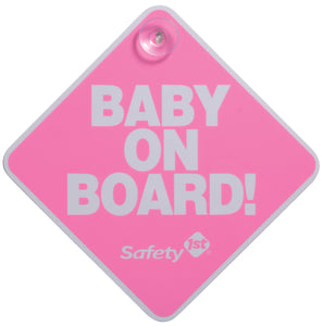 SAFETY 1ST BABY ON BOARD CARD PINK