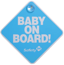 Load image into Gallery viewer, SAFETY 1ST BABY ON BOARD CARD YELLOW / BLUE / PINK