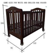 Load image into Gallery viewer, Babyworth  B2 Classic Cot  Walnut With Mattress