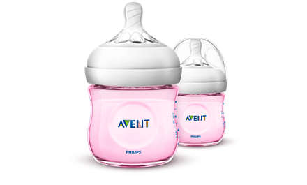 Philips Avent Natural baby bottle 125ml pink 2pk SCF031 /27