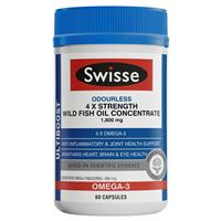 Swisse Ultiboost 4 x Strength Wild Fish Oil Concentrate 60 Capsules