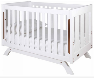 Grotime   Retro Cot cot with Mattress  and Change Table with Pad