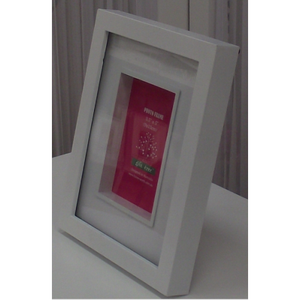 "Homeworth BOX MAT WINDOW PHOTO FRAME ITEM No. MPH25B 3.5X5"" WHITE"