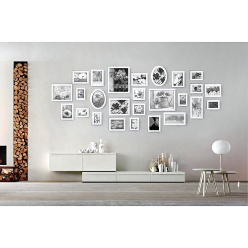 Homeworth 26 pcs Picture Photo Frame Set Wall white Decor Art Collection Gift Present