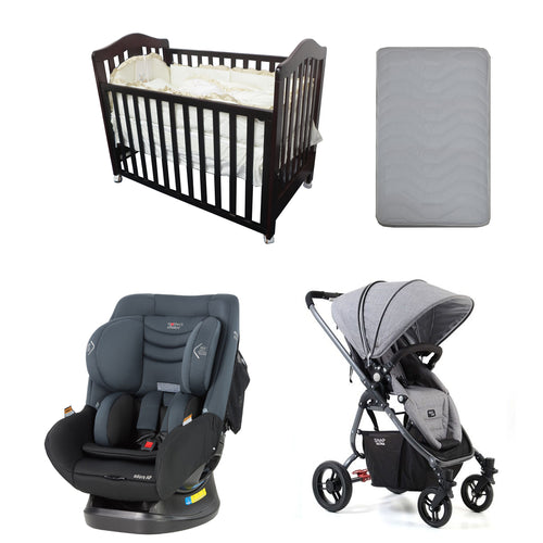 Babyworth B2N Classic Cot+Mother's Choice Adore Car Seat+Valco Baby Ultra Snap Pram+Mattress Package